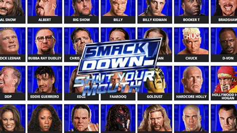 WWE SmackDown! Shut Your Mouth - Roster