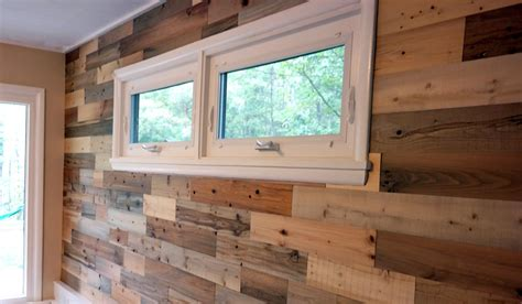 Our Reclaimed Wood Living Room Wall Revealed! - Akron Ohio