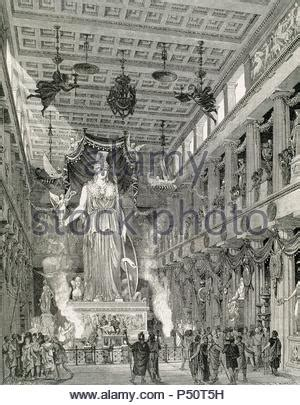Reconstruction of the Parthenon-Temple, Interior view