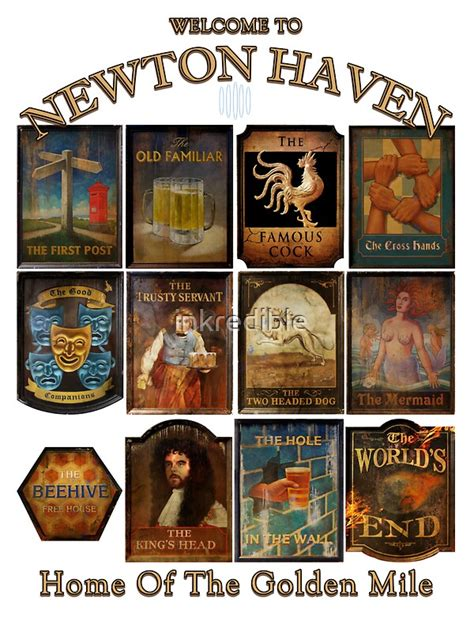 """""""Newton Haven Pubs"""" Stickers by inkredible 