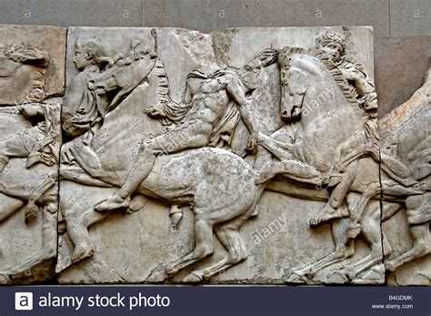 Greek Elgin Marbles from the temple Parthenon Acropolis in