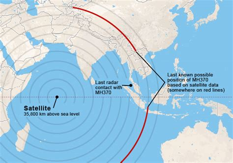 Map: Malaysia Airlines Flight 370