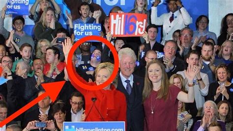 Hillary Clinton Upstaged in Iowa by Kid With Stickers on