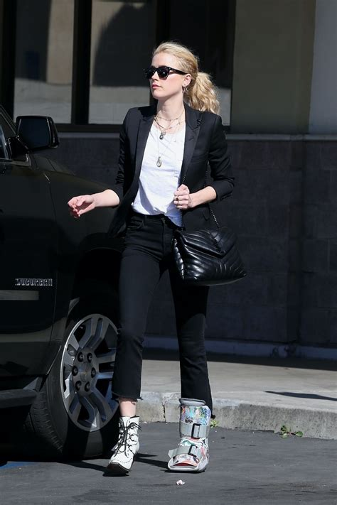 Amber Heard in Casual Outfit - LA 02/07/2020