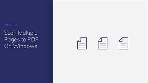 Windows 8 scan multiple pages to pdf - ninciclopedia