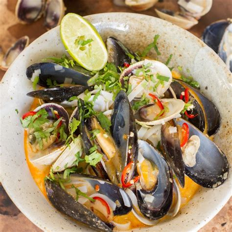 Tom Yum Soup with Mussels, Clams and Noodles | Nadia Lim