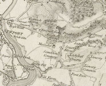 History of Maindee, in Newport and Monmouthshire   Map and