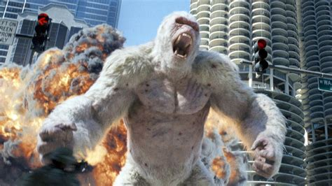Dwayne Johnson's Rampage gets an action-packed
