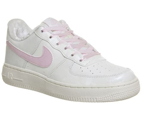 Nike Air Force 1 Trainers White Article Pink - Sneaker damen
