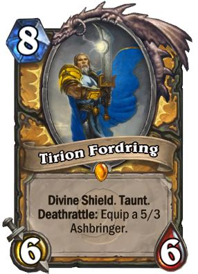 Tirion Fordring - Hearthstone Cards