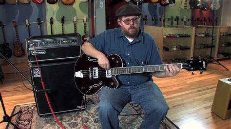 Fat Tone Guitars Gretsch G6073 Electrotone Bass and Ampeg
