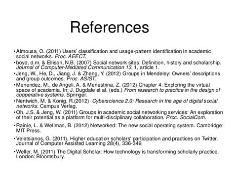 Academics and their online networks: Exploring the role of