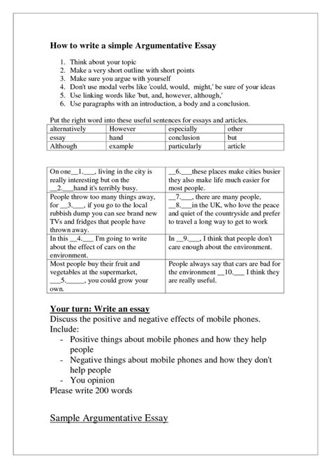 word by word examples of arguement essay to visual | How