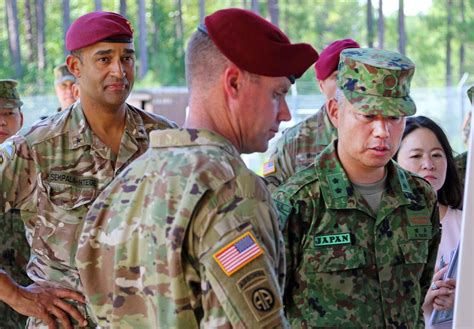 Japanese general tours Fort Bragg, 82nd Airborne Division