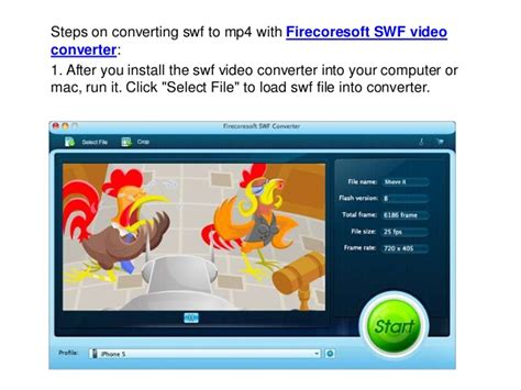 How to convert swf to mp4 on mac and wins with