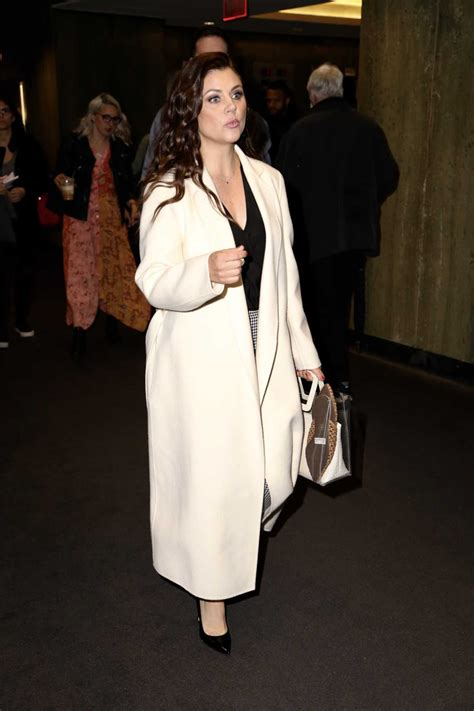 Tiffani Thiessen in a White Coat Was Seen Out in New York