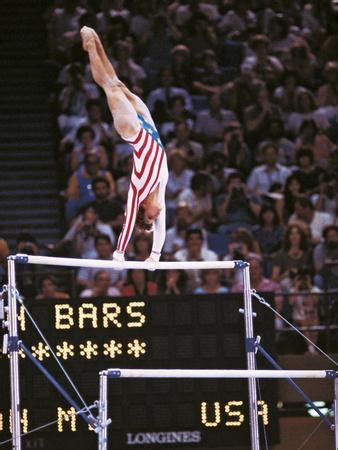 Mary Lou Retton on the Uneven Bars at the Los Angeles