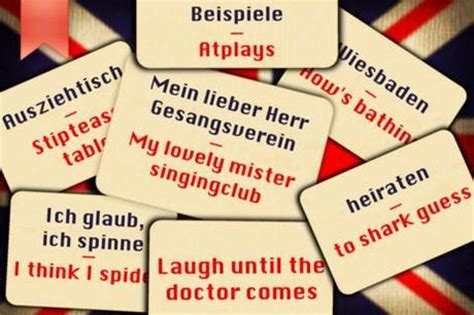 Wörterbuch mal anders: English for runaways – It is the